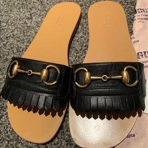 Gucci Frayed Sandals / Slides